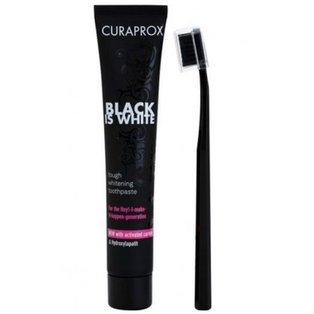 Curaprox Black Is White zubná pasta 90ml + CS 5460 zubná kefka