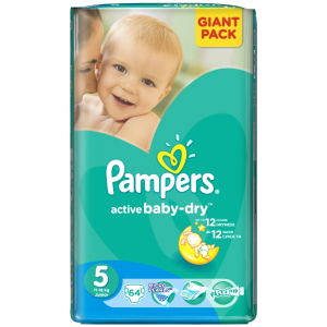 Pampers Active Baby-Dry Junior 64ks 11-18kg