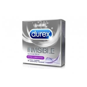 Durex Invisible Extra Lubricated 3ks